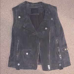 100% leather Blank NYC Grey size M Moro vest
